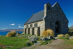 Church of the Good Shepherd, Tekapo, New Zealand royalty free stock photo