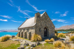 Church of the Good Shepherd. In Tekapo, New Zealand royalty free stock images