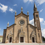 Church in the Gothic Revival style, Veneto Italy Stock Photos