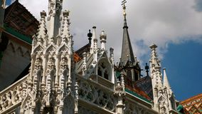 Church with gothic style details. Beautiful gothic elements find on cathedrals, abbeys and churches of Europe stock video