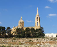 Church on Gozo, Maltese islands. Catholic Church on Gozo Island, Malta Royalty Free Stock Image