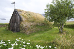 Church of Gröf, Iceland Royalty Free Stock Photography