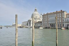 Church in the Grand Canal Royalty Free Stock Photography