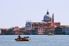Church at Grand canal in Venice Royalty Free Stock Photography