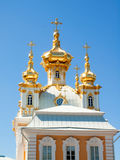 Church of grand palace in Peterhof, Russia Stock Image