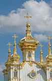 Church of Grand Palace in Petrodvorets Royalty Free Stock Image