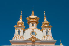 Church at Grand Peterhof Palace, Saint Petersburg, Russia Royalty Free Stock Photo