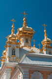 Church at Grand Peterhof Palace, Saint Petersburg, Russia Stock Images