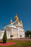 Church at Grand Peterhof Palace, Saint Petersburg, Russia Royalty Free Stock Image