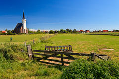 Church with grassland on a sunny day Royalty Free Stock Photos