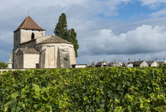 Church, Graves and Vinyard of Francs and Tayac Stock Images