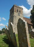 Church and gravestones Stock Image