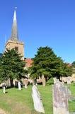 Church with Gravestones Stock Photos