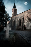 Church with graveyard Royalty Free Stock Photos