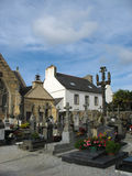 Church and graveyard in Brittany Stock Image