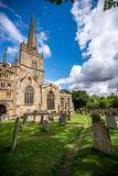 The church and graveyard in Burford village Royalty Free Stock Images