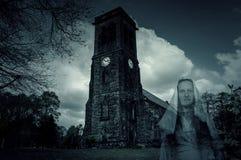 Church Graveyard Ghost Stock Photos