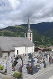 Church and graveyard Royalty Free Stock Images