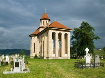 Church and graveyard in Romania Stock Images