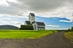 Church and graveyard at Skalholt monastery, Iceland Royalty Free Stock Photography