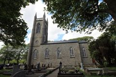 Church and graveyard of St. Columba from Drumcliffe. Royalty Free Stock Images
