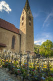 Church and graveyard, Tyrolean region of Italy Stock Images