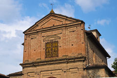 Church of Grazzano Visconti. Emilia-Romagna. Italy. Stock Images