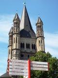 Church Great Saint Martin - Double orientation. Cologne, Germany 2014 Stock Photos