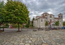 Church in greece village Kastraki near Meteora rocks Stock Images