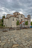 Church in greece village Kastraki near Meteora rocks Stock Photos