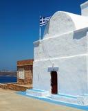 Church in a Greek island Stock Photo