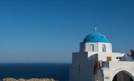 Church on a greek island Stock Photos