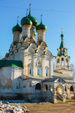 Church with green domes in Russia. Royalty Free Stock Photos