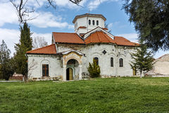 Church and green grass in Arapovo Monastery of Saint Nedelya, Bulgaria Royalty Free Stock Images