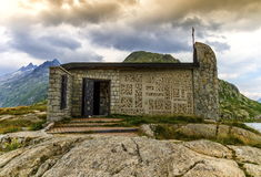 Church at the grimselpass, Bern canton, Switzerland Royalty Free Stock Photography
