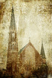 Church on grunge background Royalty Free Stock Image