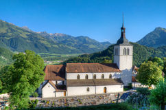 Church of Gruyeres Stock Image
