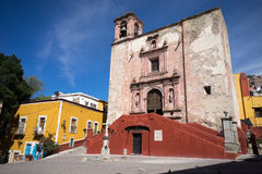 Church in guanajuato city mexico Royalty Free Stock Image