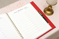 Church Guest Book 3 Stock Image