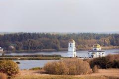 Church in Gusintsi village, Ukraine. Church in Gusintsi village at autumn, Ukraine Royalty Free Stock Photography
