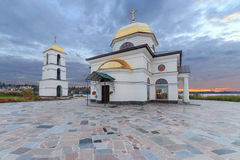 Church in Gusintsi village, Ukraine. Church in Gusintsi village at sunrise, Ukraine Stock Images