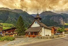Church, Guttannen, Bern canton, Switzerland Stock Photography