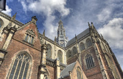 Church of Haarlem, Holland Royalty Free Stock Images