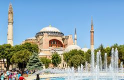 Church of Hagia Sophia in istanbul, Turkey. ISTANBUL - MAY 26, 2013: Church of Hagia Sophia. Hagia Sophia is the greatest monument of Byzantine Culture and royalty free stock photo