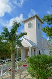 Half Moon Cay, Bahamas. Church at Half Moon Cay, Little San Salvador Island, the Bahamas. Half Moon Cay is a private island owned by Holland America Line in the stock image