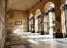 Church hall. Old church hall in St. Mary in Trastevere in Rome, Italy Royalty Free Stock Photos