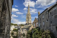 The Church In Harfleur, Normandie, France Stock Image
