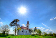 Church in hdr Royalty Free Stock Photos