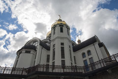 Church, heaven, Ukraine, Zarvanytsia. Church heave, Ukraine Zarvanytsia tourist traditional travel  virgin Royalty Free Stock Photos