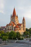 Church Heiliger Franz of Assisi. At Mexikoplatz, Vienna, Austria Stock Photography